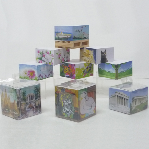 4 sides printing memo cube