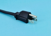 American-spec three-pin power cord