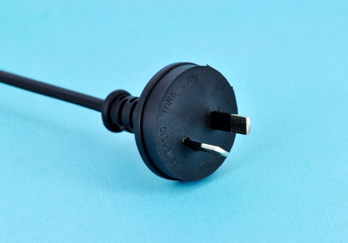 Australian-spec SAA two-pin power cord
