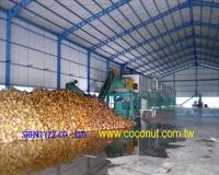 Coconut , Palm fibers Mat Whole Plant Machine