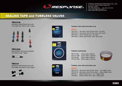 Tubeless valves and sealing tape