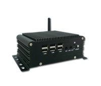 Fanless Box Computer - Intel Cedarview Atom D2550 Dual Core 1.86GHz CPU with GbE LAN / VGA /