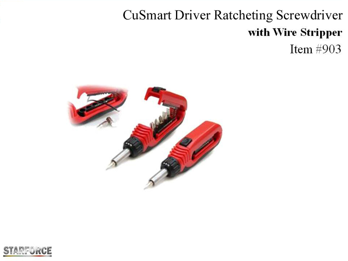 CutSmart Driver Ratcheting Screwdriver with Wire Stripper