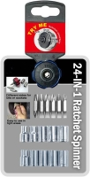 24-IN-1 Palm Ratchet Set Sockets & Bits