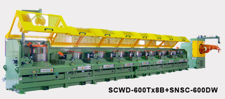 Straight Line Continuous Wire Drawing Machine