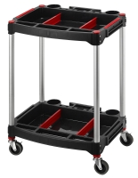 2-Tiers Height-Adjustable Tool Cart