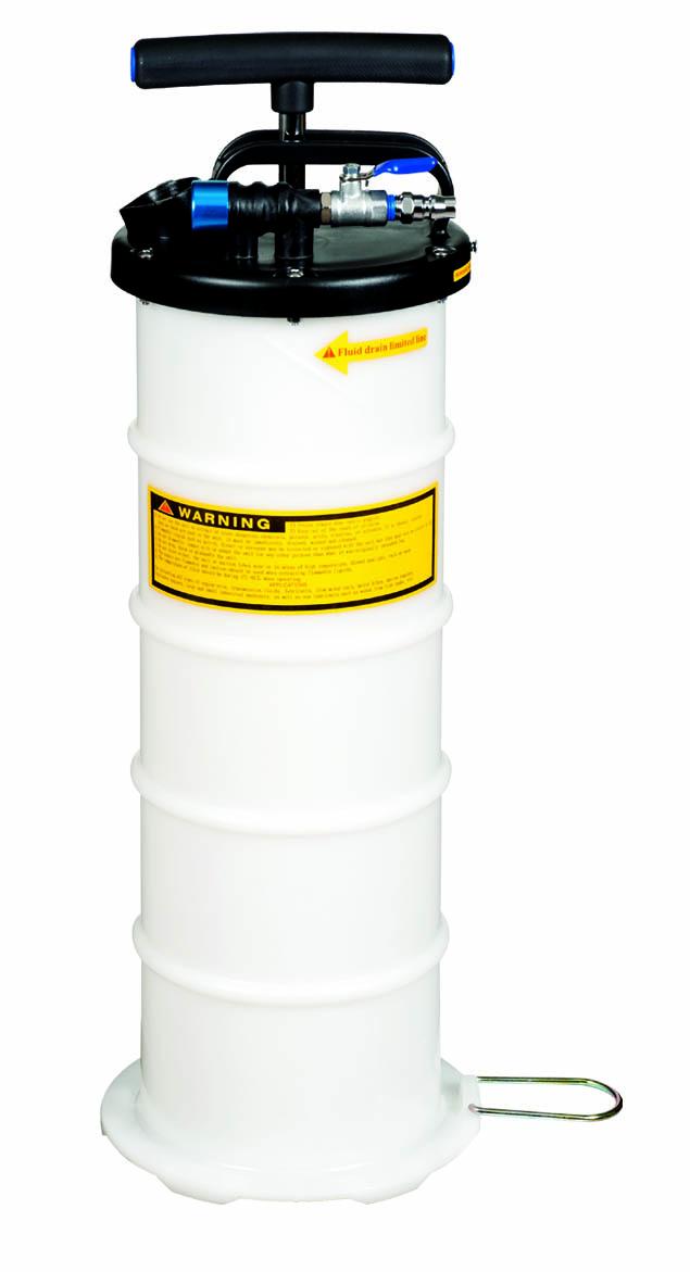 6.5 L PNEUMATIC. MANUAL OPERATION FLUID EXTRACTOR