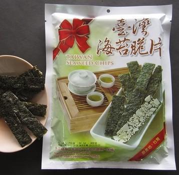 海苔脆片-杏仁口味 (尚有南瓜籽、黃金蕎麥口味)