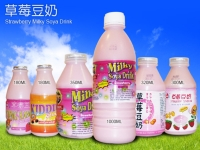 Strawberry-flavor Soybean Milk