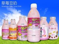 Strawberry-flavor Soybean Milk