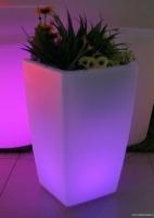 LED PE Square Flowerpot (Color-changing)