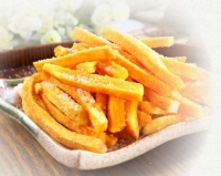Vacuum-fried yam chips with sea salt