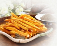 Vacuum-fried yam chips with pepper