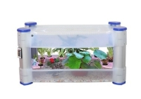 Hydroponic indoor garden lighted chamber
