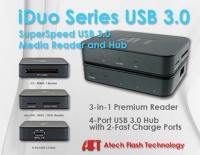 Atech Flash Technology iDuo讀卡機和USB 3.0集線器