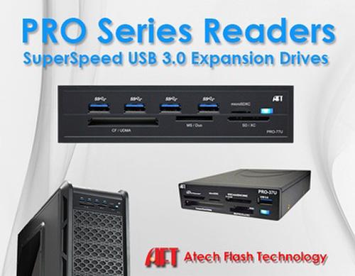 Atech Flash Technology Pro系列USB3.0嵌入式內接讀卡機