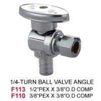 1/4-Turn Ball Valve Angle
