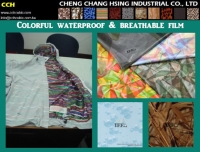 Cens.com colorful waterproof & breathable film CHENG CHANG HSING INDUSTRIAL CO., LTD.