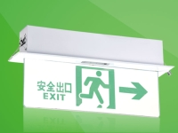 Flush-mount Crystal Fire Exit Sign