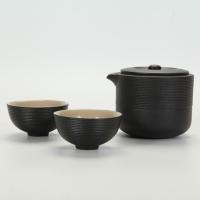 旋紋旅行壺茶組
