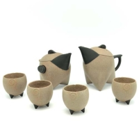 三足鳥型壺日月對壺茶組