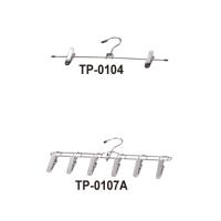 TP-0104不锈钢可调整式裤/裙夹/TP-0107A 不锈钢衣架型6夹晒衣架(板型夹)