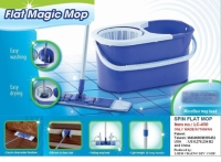 SPIN FOLDING FLAT MOP WITH SPIN DRY BUCKET SET
