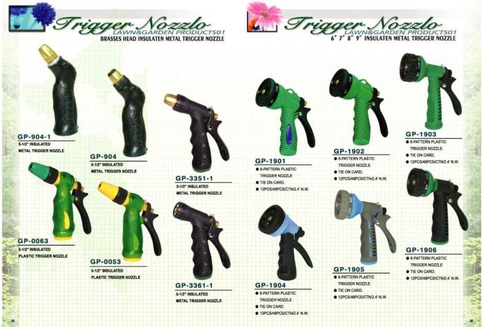 """Brasses Head Insulaten Metal Trigger Nozzle And6""""7""""8""""9"""" Insulaten Metal Trigger Nozzle"""