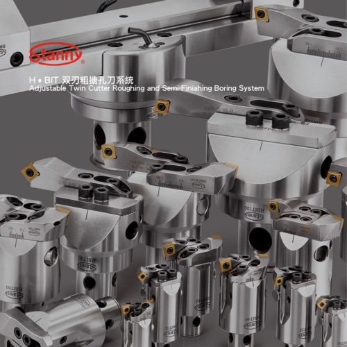 H•BIT Adjustable Twin Cutter Roughing and Semi-Finishing Boring System.