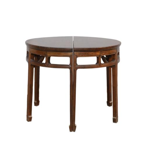 楠木開光半圓桌