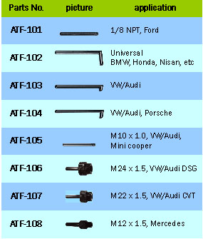 Transmission Filling System W/8pcs Adaptor / Engine, Compression Tools & Oil Service