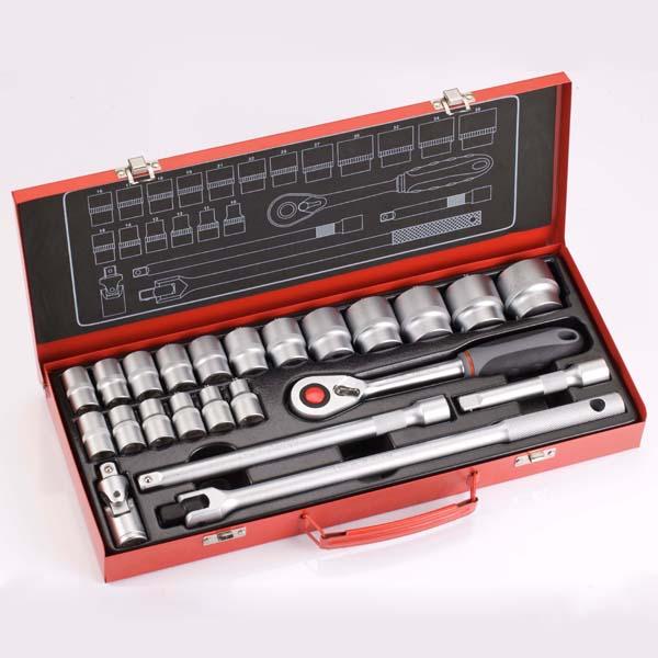 23PCS 1/2DR. Socket & Wrench Set / Sockets Set, Ratchets, Accessories