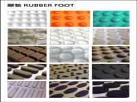 Various rubber foot pads