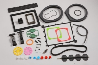 Silicone-rubber electronic parts