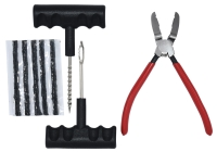TIRE REPAIR SET( REMOVAL/TRIM PLASTIC RIVETS BUCKLE CLAMP PLIERS)