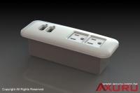專業傢俱用內崁式USB充電器、插座