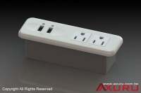 Power sockets with USB charger for furniture