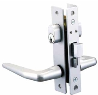 NARROW STILE MORTISE LOCK, KEY/KEY, HANDLE/HANDLE