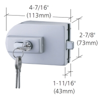 GLASS MOUNTED PATCH LOCK