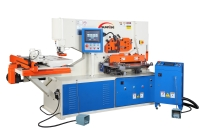 With dual CNC for punching Station and Flat Bar Shear