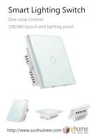 ES3 Smart Lighting Switch 1 loop