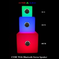 Portable Bluetooth Wireless stereo speaker with LED light.