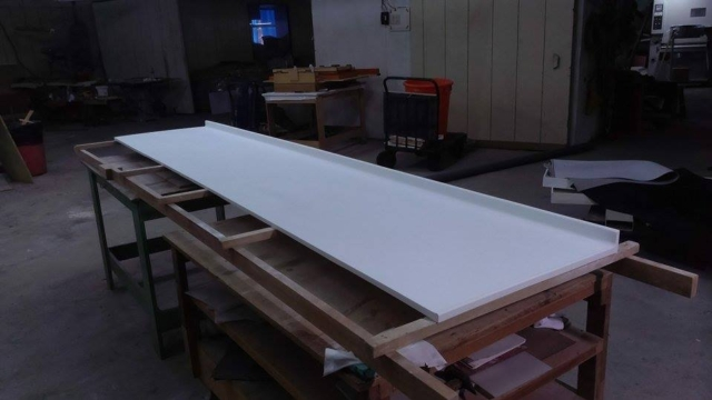one-piece forming countertops