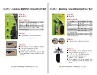 Cens.com RATCHET SCREWDRIVER SET GIN SEN HARDWARE ENTERPRISE CO., LTD.