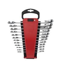 12PCS Reversible Combination Ratchet Wrench