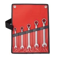 5PCS Reversible Combination Ratchet Wrench