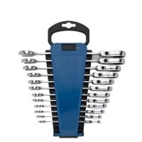 12PCS Flexible Combination Ratchet Wrench