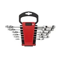 6PCS Flexible Combination Ratchet Wrench