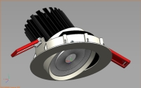 LED DOWNLIGHT-90MM GIMBAL -Complete