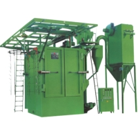 CIRCULATING HANG TYPE SHOT BLASTING M/C